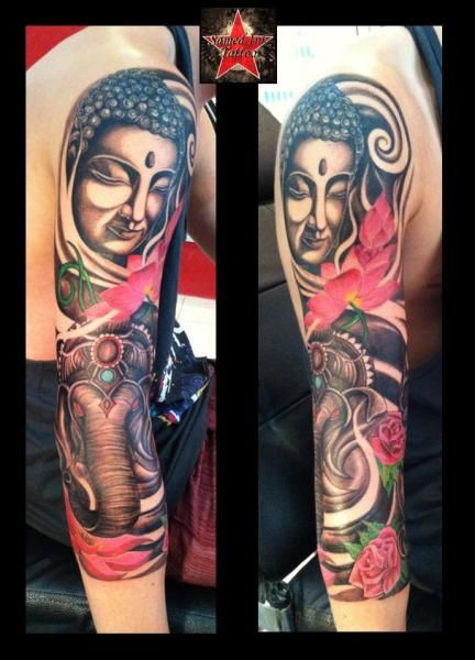 105 best buddha tattoo images on pinterest buddha tattoos buddha tattoo design and buddhist. Black Bedroom Furniture Sets. Home Design Ideas