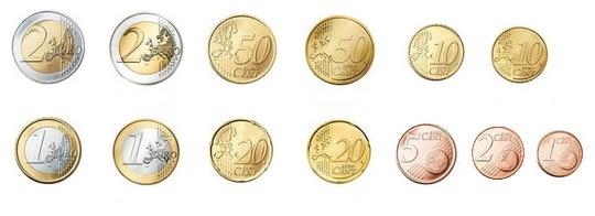 Monedas euro Euro coins  Imprimibles  Printable  Pinterest