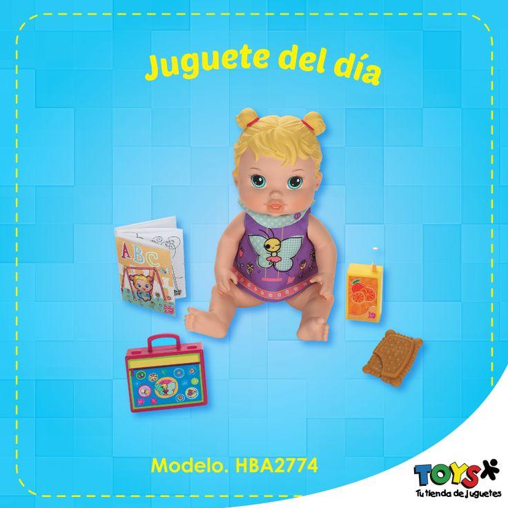 #JugueteríasTOYS Para las más pequeñas de la casa traemos la nueva Muñeca Baby Alive Hora de ir a la Cama. Encontrála en todas nuestras tiendas TOYS.