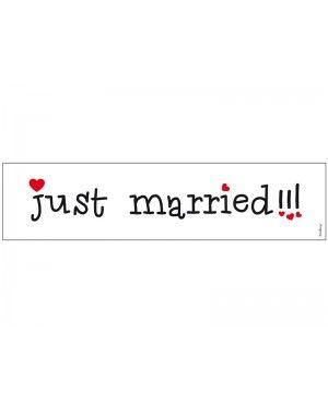 Tablice rejestracyjne Just Married wesołe kpl. 2 szt.