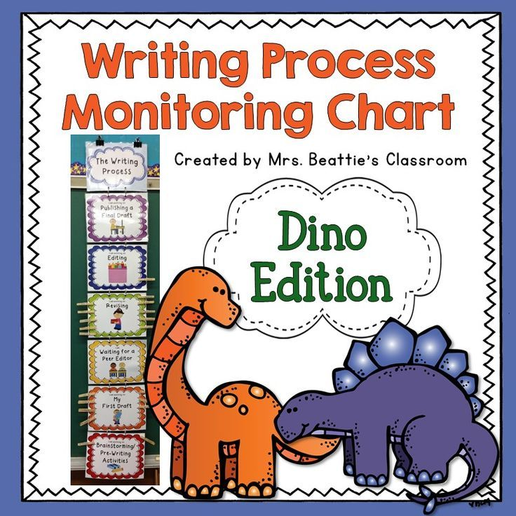 Organize your students through the writing process with this cute dinosaur clip chart for your classroom. Your students will love moving their clip from one section of the writing process to the next as they create their own piece of writing!