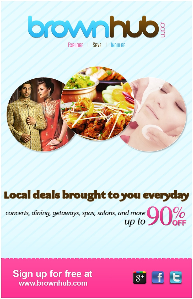 Check out www.brownhub.com for up to 90% off your favorite things to eat, do and see!