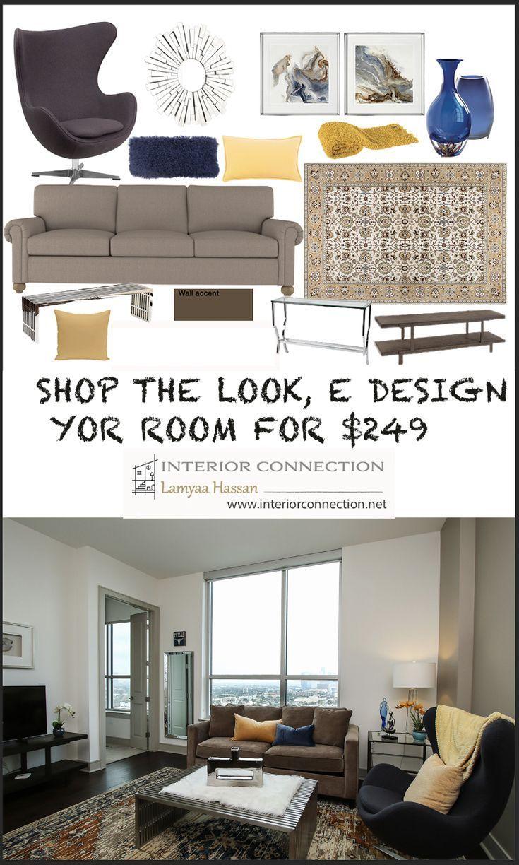 Shop The Look Interior Design Mood Board Interior Design Modern Living Room