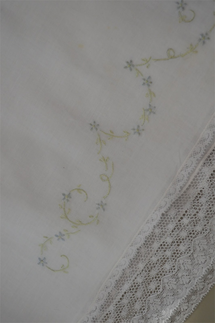 And....pretty embroidery and lace on the slip too!