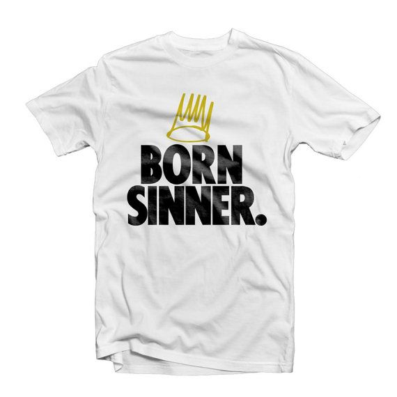 J Cole Born Sinner with Crown T Shirt  J Cole Born by SupremeCut, $14.99
