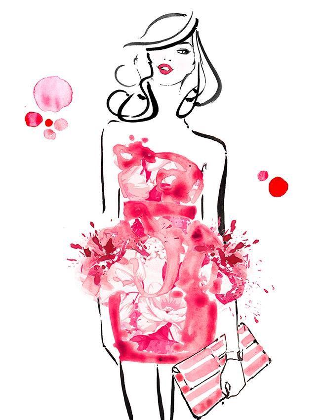 Kerrie Hess Illustration, fashion illustration