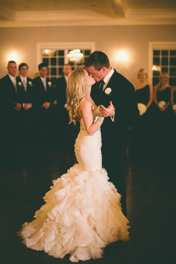 First dance pic. Love her dress.