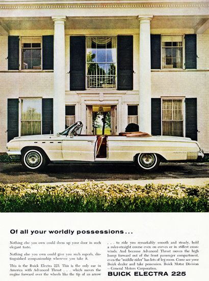 Buick Electra 225 Convertible 1962 Possessions - Mad Men Art: The 1891-1970 Vintage Advertisement Art Collection