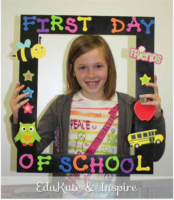 first day of kindergarten frame - Google Search