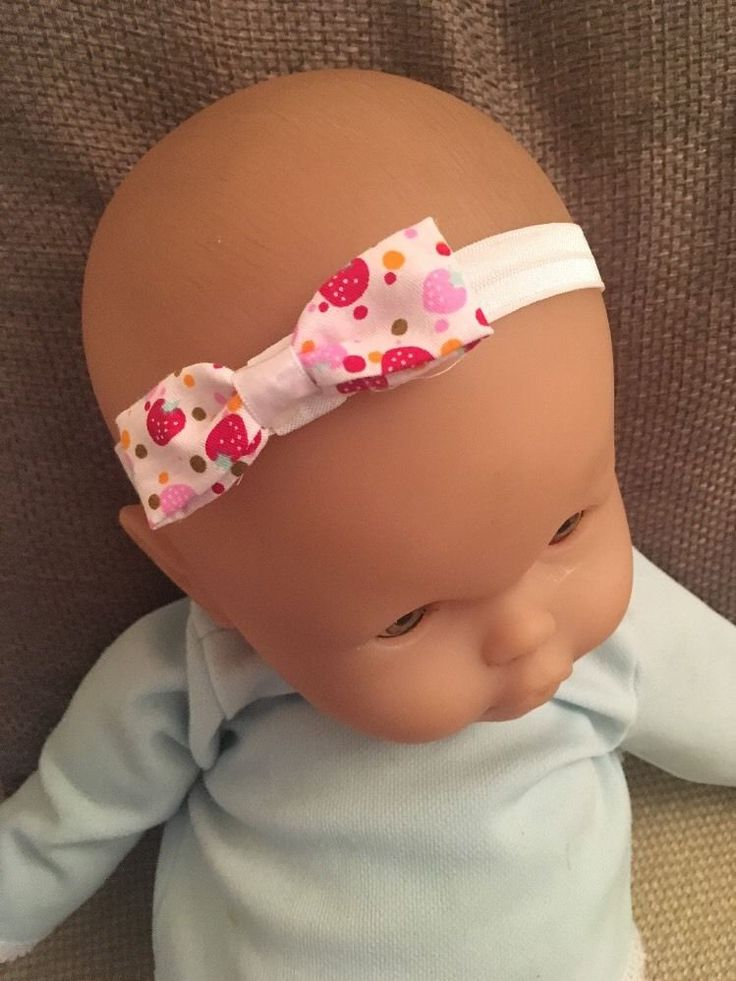 Baby Headband White Bow Elastic Girl Hair Accessory Exclusive Strawberry Pattern in Baby, Clothes, Shoes & Accessories, Accessories | eBay!
