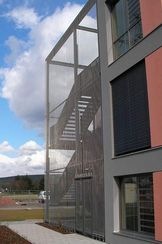 Outer Staircase Cladding With Architectural Wire Mesh. HAVER Architectural  Wire Mesh Made Of Stainless Steel