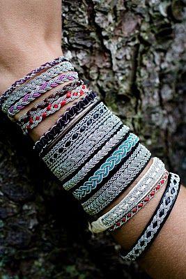 VirkStina: Liekkas -- sami tin thread bracelets