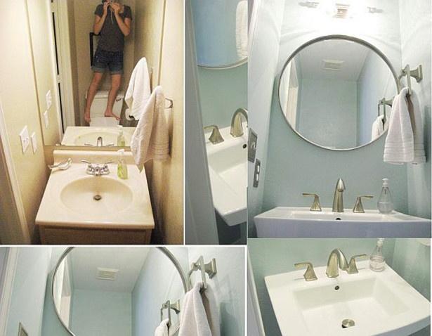 Small Bathroom Makeover with Minimalist Design: Back To Minimalist Small Bathroom Makeover ~ 3meia5.com Bathroom Inspiration