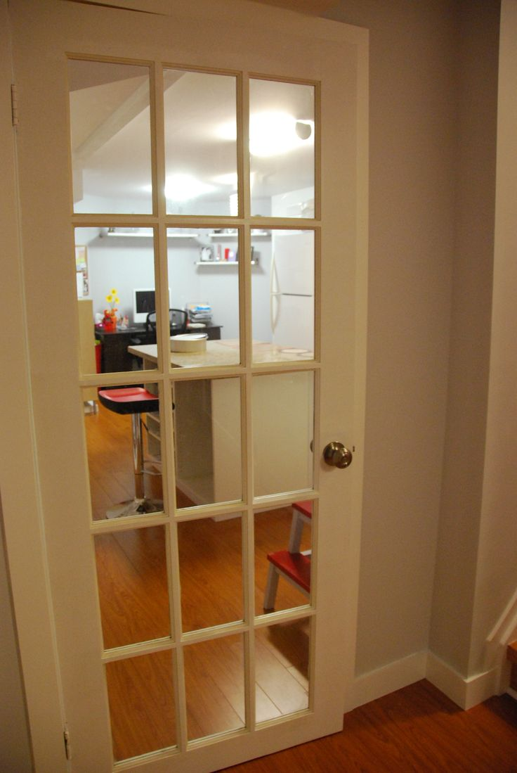 I wanted a French Door to keep the room from feeling too claustrophobic.