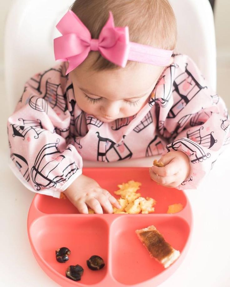 Time for baby brunch with our new silicone plates by Bumkins!!
