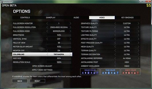 Battlefield 4 beta includes options for the colorblind / La beta de Battlefield 4 incluye opciones para daltonicos