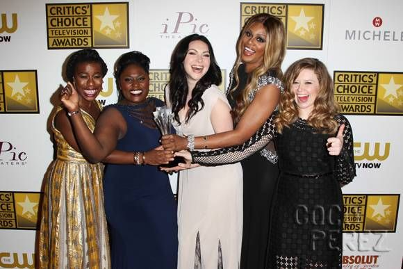 Orange Is The New Black's Uva Aduba, Laura Prepon, Danielle Brooks, Natasha Lyonne, and Laverne Cox are all standouts at the Critics Choice Television Awards!