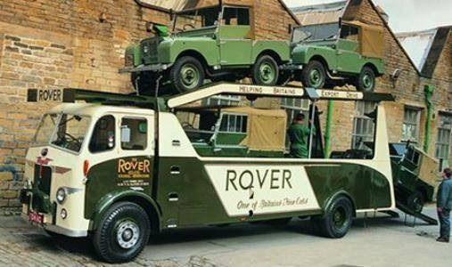 The wonderful Leyland transporter for Land Rover.