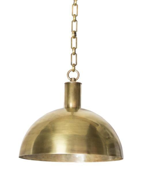 Morgan Dome Pendant, Brass