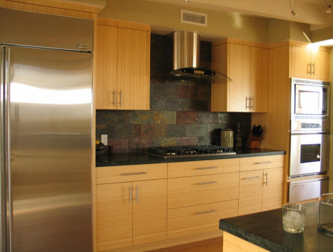 Bamboo kitchen cabinets kitchens nooks pinterest for Bamboo kitchen cabinets