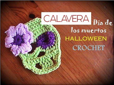 CALAVERA día de los muertos - Halloween CROCHET (zurdo) - YouTube