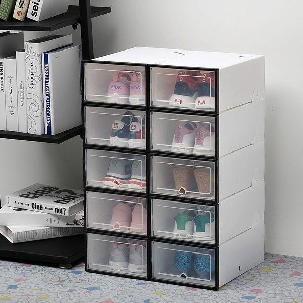 2 3 4 6pcs Set Transparent Shoes Rack Drawer Case Plastic Shoe