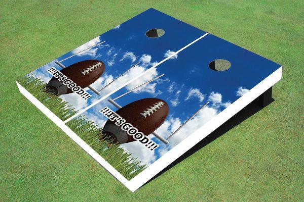 Field Goal Themed Cornhole Boards $170