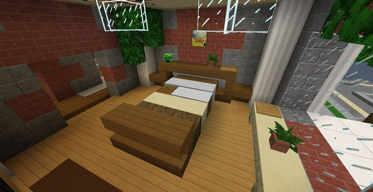 Minecraft Furniture - Bedroom - Wood Inspired Bedroom ...