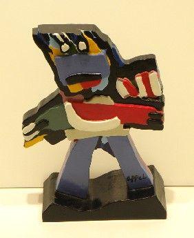 ARTIST - Karel Appel  TITLE - Blue Boy  DATE - 2000  LMEDIUM - Polychrome painted earthware