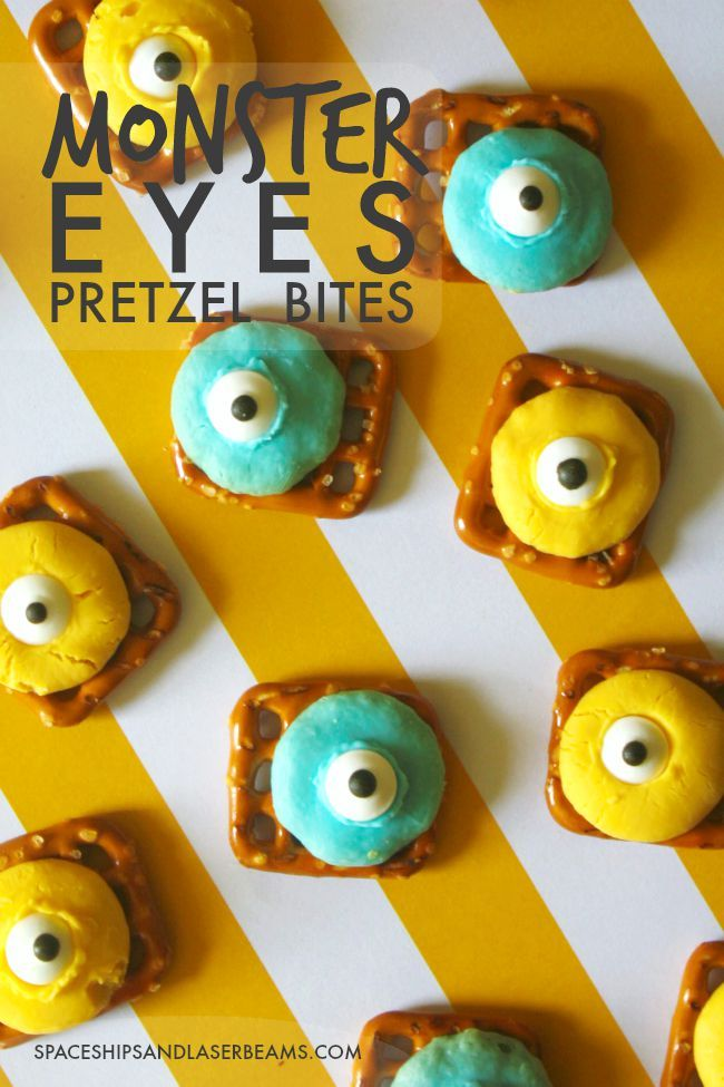 Halloween Recipe | Monster Eyes Pretzel Bites Party Ideas: