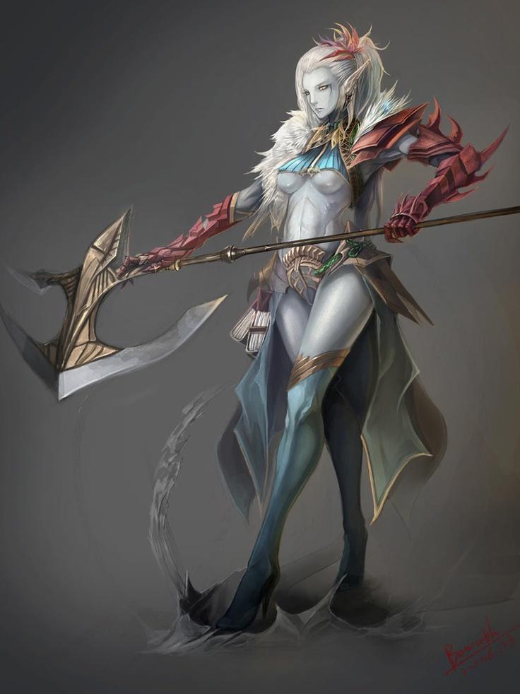 Ayanne Waden 88203a09522148717d838d3310b35762--fantasy-warrior-dark-elf