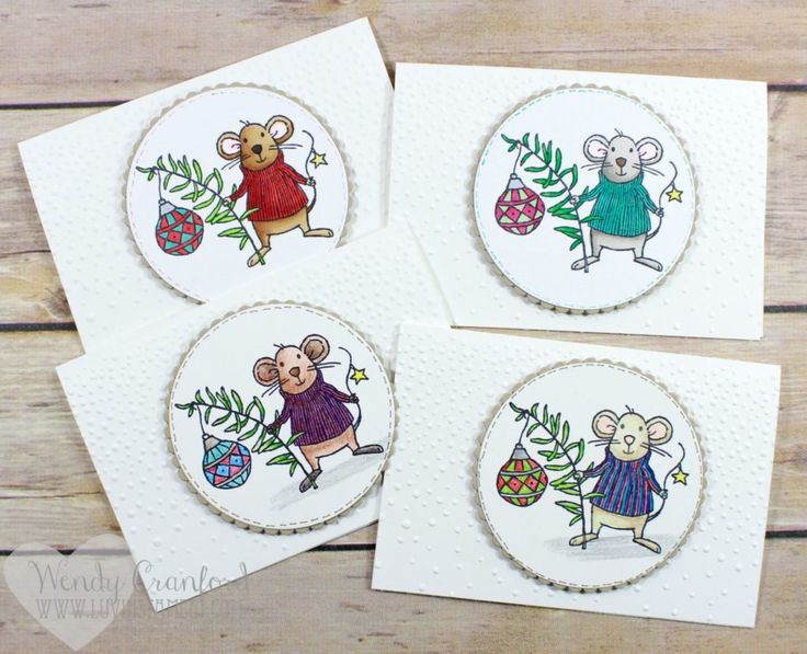 Create beautiful Christmas cards using the Merry Mice stamp set. On sale through Nov 30th. Wendy Cranford www.luvinstampin.com
