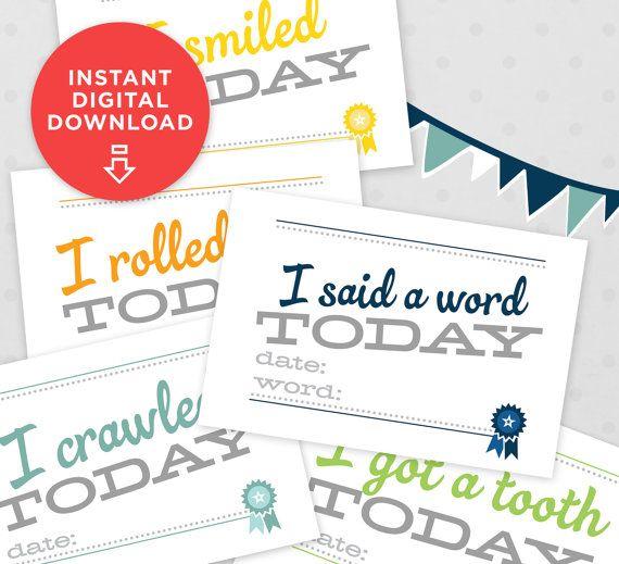 54 best Baby Book DIY images on Pinterest Baby memories, Baby - baby milestones chart template