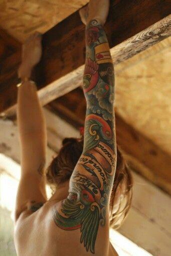 Old school tattoo sleeve