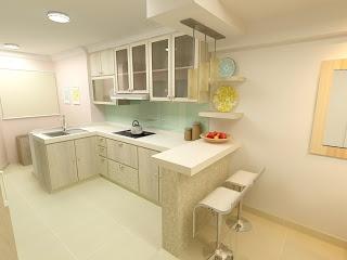 f. guinto portfolio: modern country style hdb 3 room flat | flat