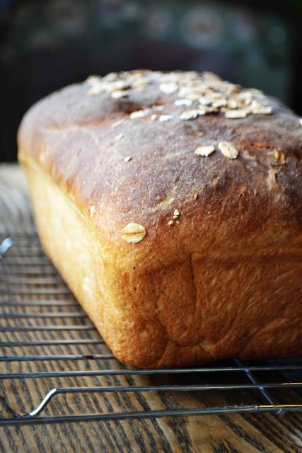 No Knead Maple Oatmeal Bread
