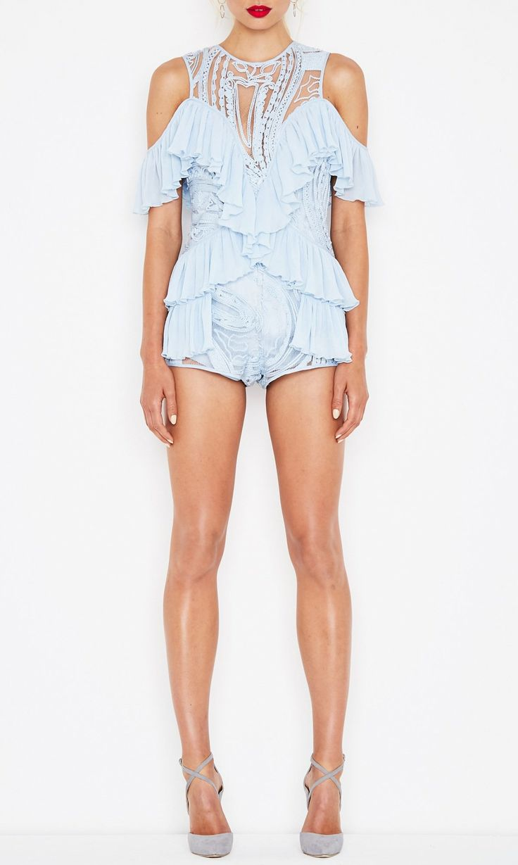 alice McCALL | alice McCALL You're So Young So Have Fun Girl Playsuit Ice Blue - alice McCALL