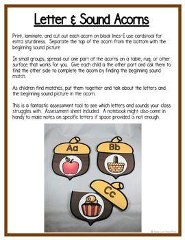 Acorns & Squirrels Math & Literacy Centers (4 Scaredy Squirrel Activities Too!)
