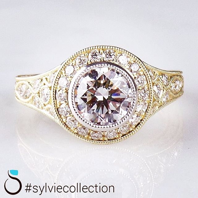 Simple Customize your ring with Sylvie sparkle roundbrilliant halo