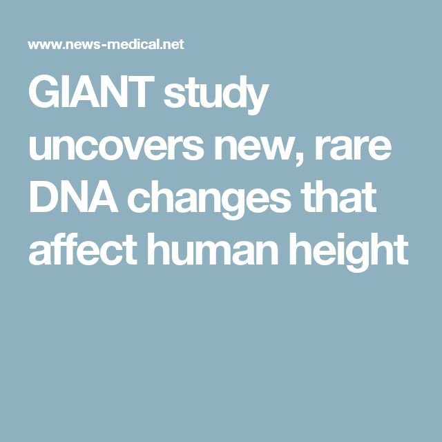GIANT study uncovers new, rare DNA changes that affect human height