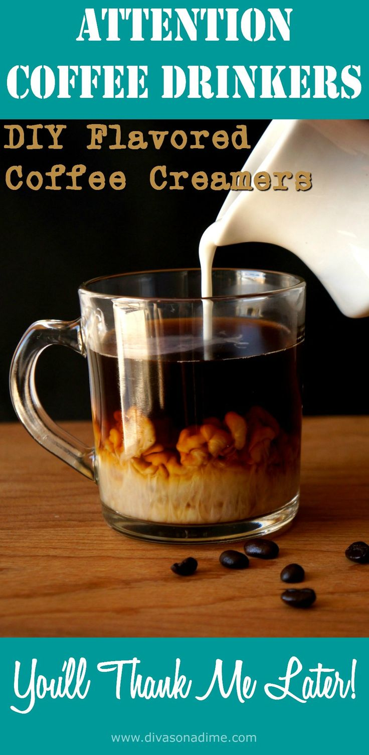 Love coffee? Here is one easy recipe for homemade coffee creamer that makes 10 different flavors that are inexpensive, delicious and healthier than the supermarket stuff. Pumpkin spice, peppermint, almond cookie, Irish cream and more.