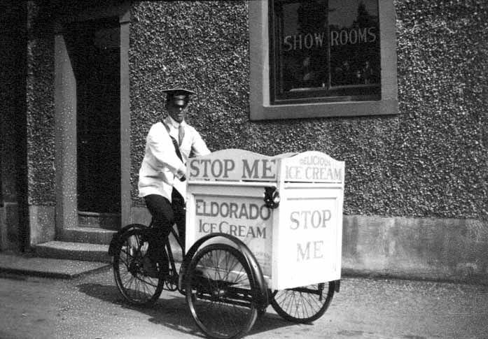 Old Ice Cream 'Van' in the UK - early 20th Century