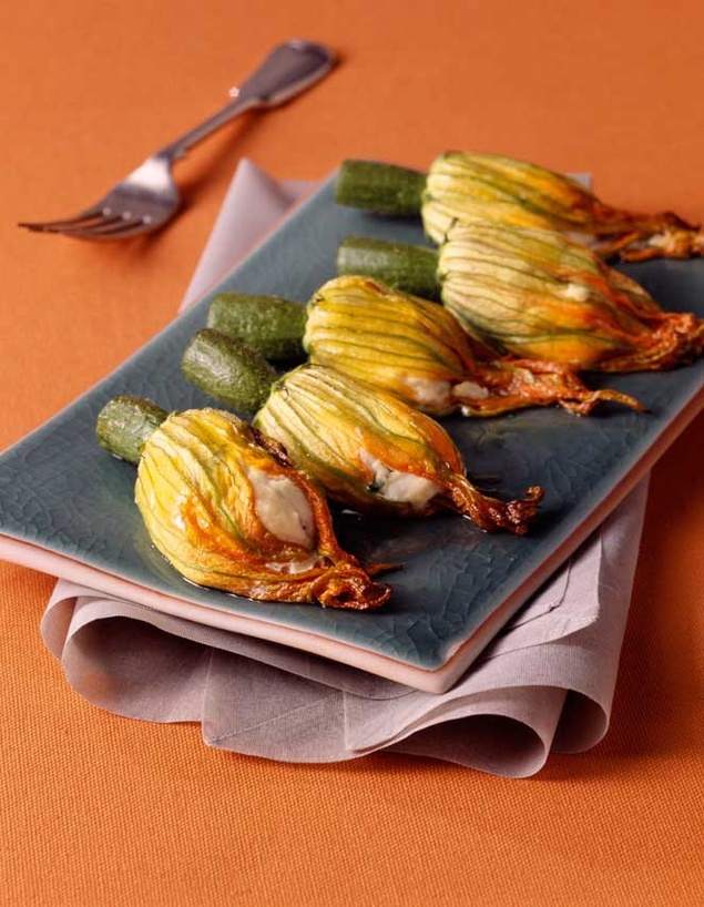 how to cook a zucchini blossom
