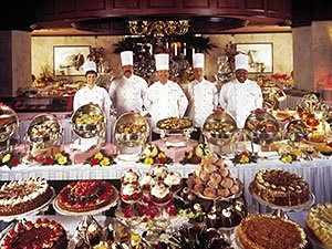 #19 Had the Sunday brunch buffet at the Hotel Del Coronado.  This picture is part of the dessert section.