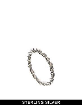 Bloody Mary Sterling Silver Little Twist Ring