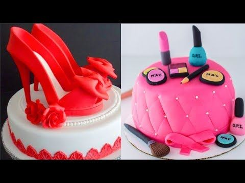 Top 20 Amazing Birthday Cake Women Ideas - Cake Style 2017 - Oddly Satisfying Cake Decorating Videos - YouTube