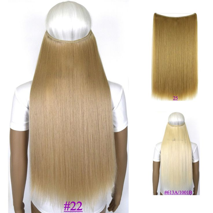 24inch (60cm) 100g straiht mircale wire hair extension hot resistant synthetic hair extension