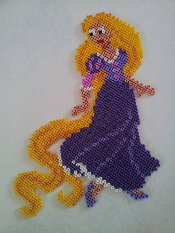 Rapunzel hama beads by PERLERGIRLS