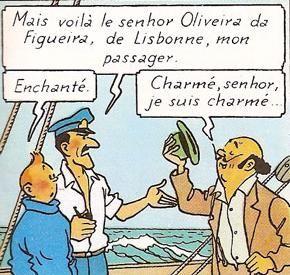 Oliveira da Figueira, Tintin, Henry de Monfreid
