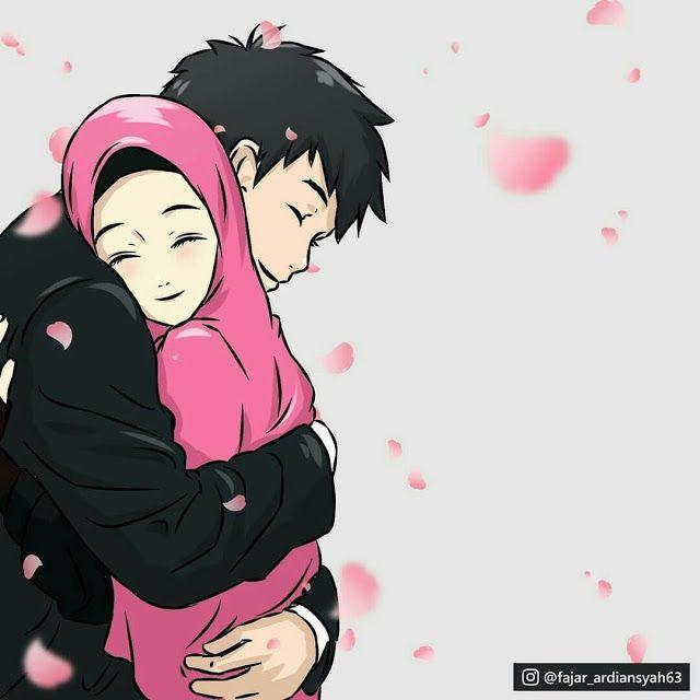 Islamic Couple Cartoon Dp Cute Muslim Couples Couple Cartoon Anime Muslim